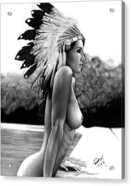 Eagle Acrylic Print by Pete Tapang