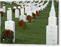 Eagle Point National Cemetery At Christmas Acrylic Print by Mick Anderson