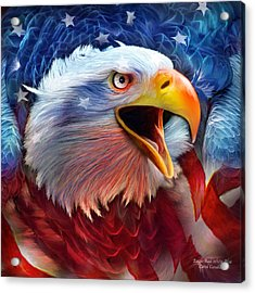 Eagle Red White Blue 2 Acrylic Print
