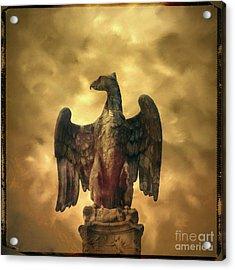 Eagle Sculpture Acrylic Print by Bernard Jaubert