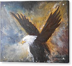 Eagle Spirit Acrylic Print by Jane  See
