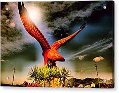 Eagle Statue. Acrylic Print by Siti  Syuhada