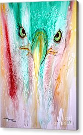 Eagle Vision Acrylic Print by Tracy Rose Moyers