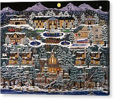 Acrylic Print featuring the painting Eaglecrest Resort by Jennifer Lake