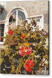 Acrylic Print featuring the photograph Alameda Roses by Linda Weinstock