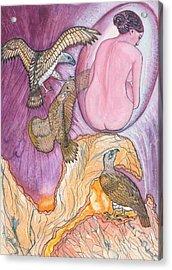 Eagles Acrylic Print by Lucia Conrad