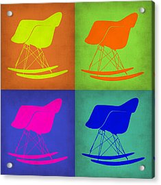 Eames Rocking Chair Pop Art 1 Acrylic Print by Naxart Studio