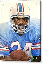 Earl Campbell Acrylic Print by Michael  Pattison