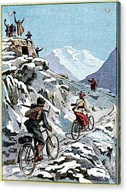Early 20th Century Bike Advert Acrylic Print