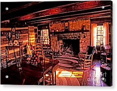 Early American Livingroom Acrylic Print by Paul W Faust -  Impressions of Light