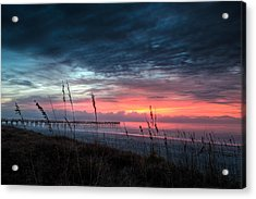 Early At The Beach Acrylic Print