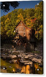 Early Autumn At Glade Creek Grist Mill Acrylic Print