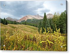 Acrylic Print featuring the photograph Early Autumn In The San Juans -  Mount Wilson And Wilson Peak by Cascade Colors
