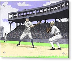 Early Baseball Acrylic Print by Steve Dininno