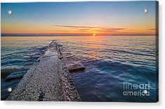 Early Breakwater Sunrise Acrylic Print