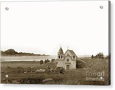Early Carmel Mission And Point Lobos California Circa 1884 Acrylic Print