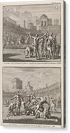 Early Christian Martyrs In A Roman Arena And Early Acrylic Print