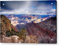 Early Clouds Over Hopi Point Acrylic Print by Lisa  Spencer