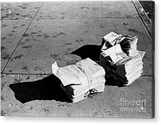Acrylic Print featuring the photograph Early Edition by Tom Brickhouse