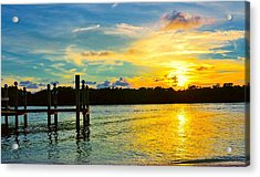 Early Evening On Sombrero Beach Acrylic Print