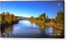 Early Fall On The Payette River Acrylic Print by Robert Bales