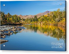 Early Fall On The Payette Acrylic Print by Robert Bales