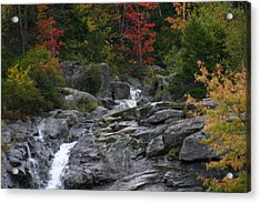 Acrylic Print featuring the photograph Early Fall Waterfall by Denyse Duhaime