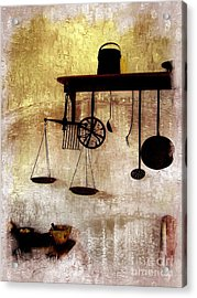 Early Kitchen Tools Acrylic Print by Marcia Lee Jones