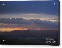 Early Monsoon Sunset Over San Francisco Peaks Acrylic Print