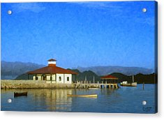 Early Morning At The Lake Acrylic Print by Spyder Webb