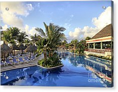 Acrylic Print featuring the photograph Early Morning At The Pool by Teresa Zieba