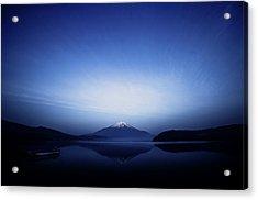 Early Morning Blue Symbol Acrylic Print by Takashi Suzuki