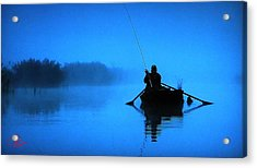 Early Morning Fishing  Acrylic Print by Colette V Hera  Guggenheim