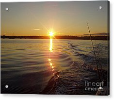 Acrylic Print featuring the photograph Early Morning Fishing by John Telfer
