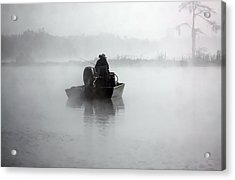 Early Morning Fishing Acrylic Print by Myrna Bradshaw