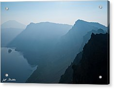 Acrylic Print featuring the photograph Early Morning Fog Over Crater Lake by Jeff Goulden