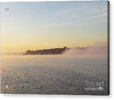 Early Morning Fog Rolling In Acrylic Print by John Telfer