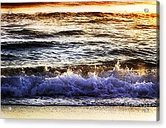 Acrylic Print featuring the photograph Early Morning Frothy Waves by Amyn Nasser