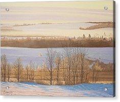 Early Morning Haze Acrylic Print by Harvey Rogosin