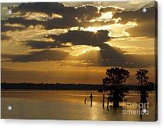 Early Morning Light At Lake Deutrive Acrylic Print by Kelly Morvant