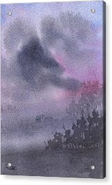Acrylic Print featuring the painting Early Morning Mist by Rebecca Davis