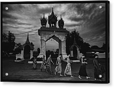 Early Morning Monks Acrylic Print