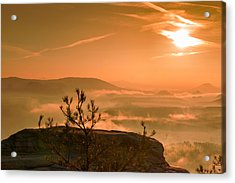 Early Morning On The Lilienstein Acrylic Print