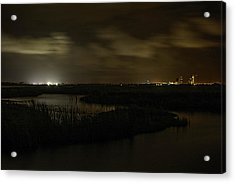 Acrylic Print featuring the digital art Early Morning Over Lake Shelby by Michael Thomas