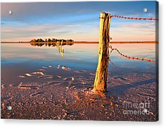 Early Morning Salt Pan Acrylic Print by Bill  Robinson