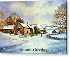 Early Morning Snow Christmas Cards Acrylic Print