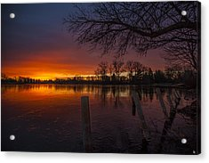 Acrylic Print featuring the photograph Early Morning Sunrise by Nicholas  Grunas