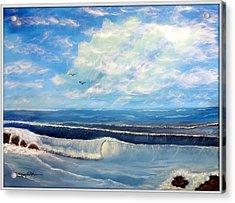 Early Morning Surf Acrylic Print by Joyce Krenson