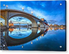 Early Morning Under Market Street Bridge Acrylic Print by Steven Llorca