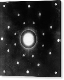 Early Neutron Diffraction Imaging Acrylic Print by Oak Ridge National Laboratory, Courtesy Emilio Segre Visual Archives/american Institute Of Physics